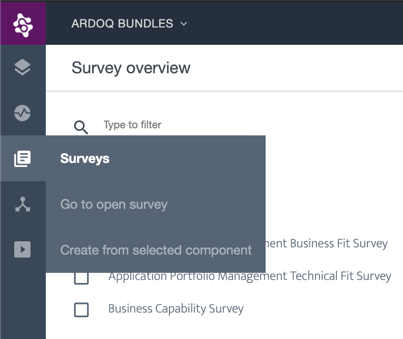 Ardoq surveys
