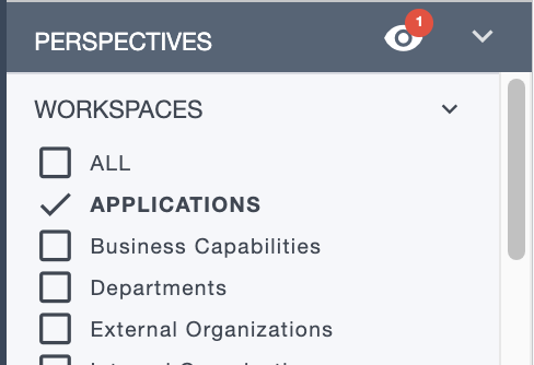 Ardoq applications workspace